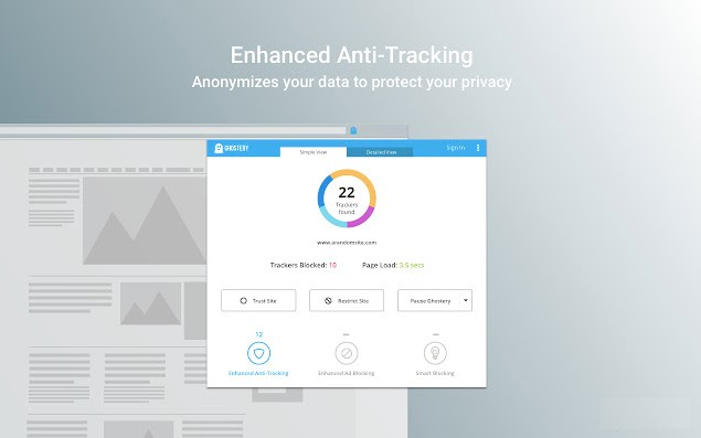 Disable Enhanced Anti-Tracking for Ghostery