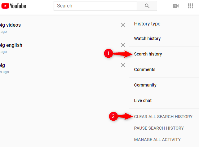 How to delete your watch history?