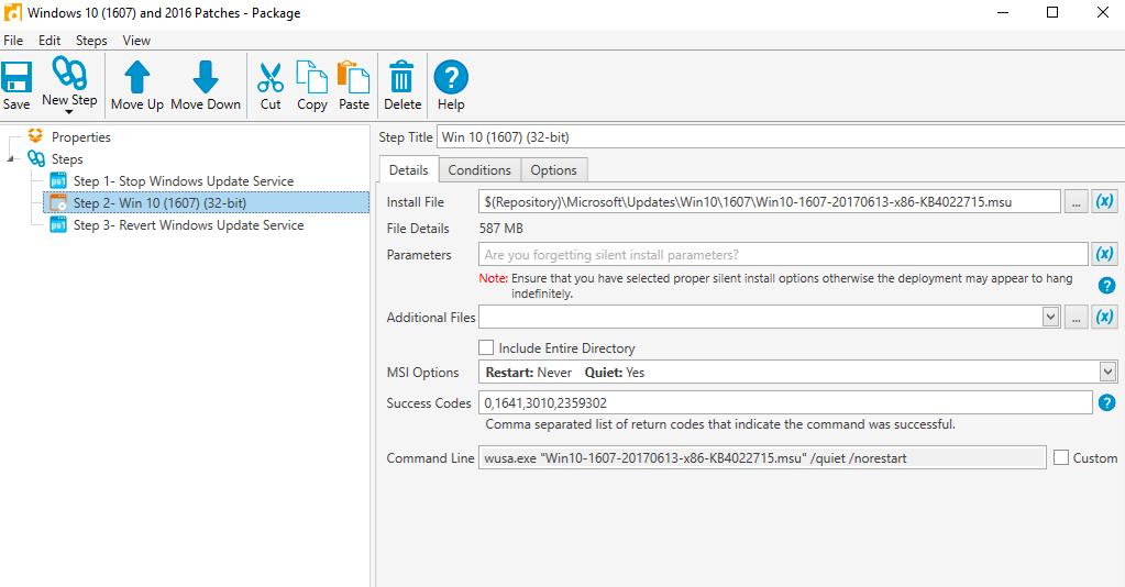 Windows update package