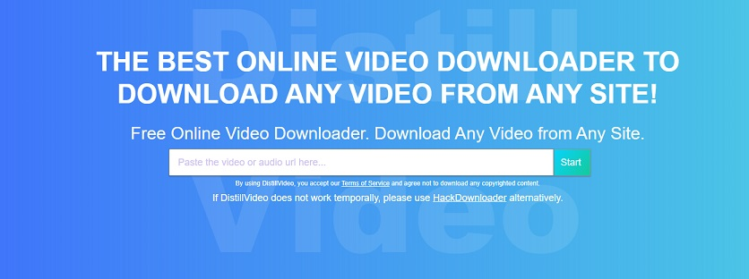 Download streaming video with distill video