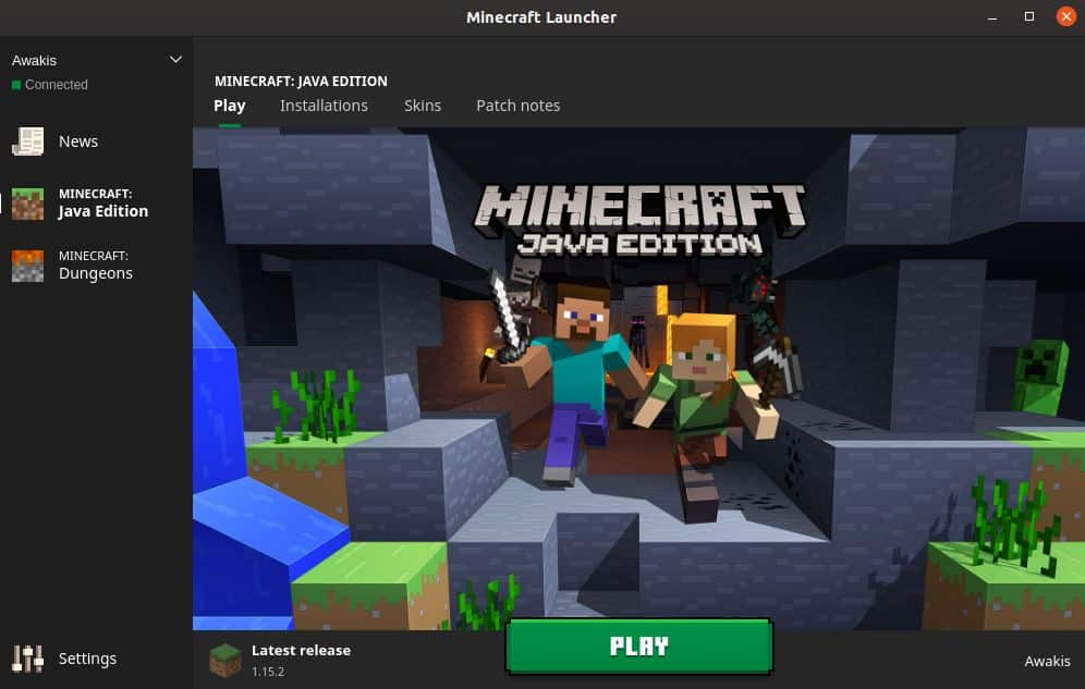 Launch the Minecraft application