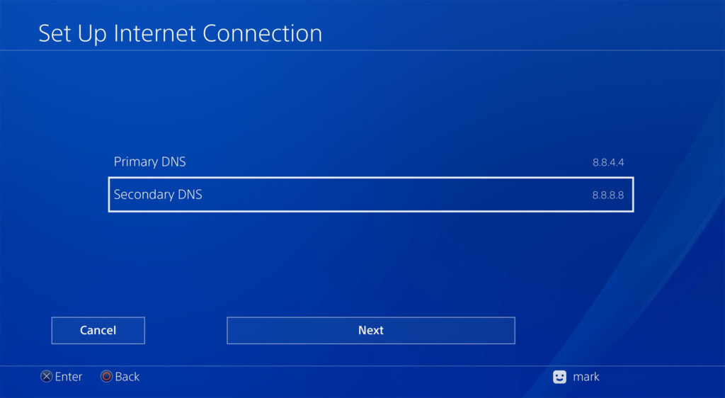 DNS to speed up downloads on PS4